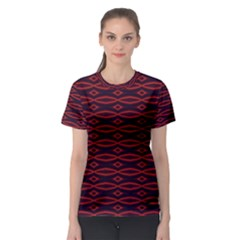 Repeated Tapestry Pattern Abstract Repetition Women s Sport Mesh Tee