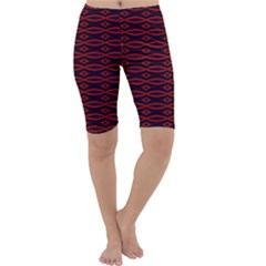 Repeated Tapestry Pattern Abstract Repetition Cropped Leggings