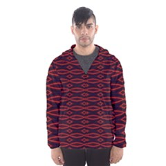 Repeated Tapestry Pattern Abstract Repetition Hooded Wind Breaker (men)