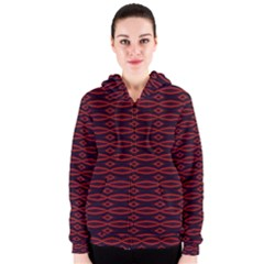 Repeated Tapestry Pattern Abstract Repetition Women s Zipper Hoodie