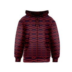 Repeated Tapestry Pattern Abstract Repetition Kids  Zipper Hoodie