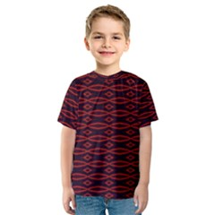 Repeated Tapestry Pattern Abstract Repetition Kids  Sport Mesh Tee