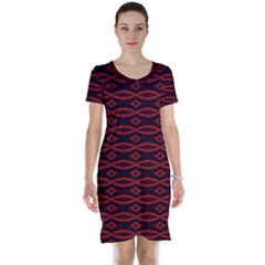 Repeated Tapestry Pattern Abstract Repetition Short Sleeve Nightdress