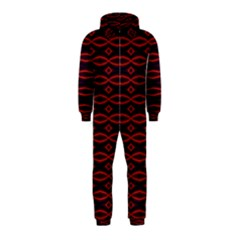 Repeated Tapestry Pattern Abstract Repetition Hooded Jumpsuit (kids)