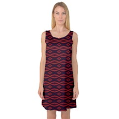 Repeated Tapestry Pattern Abstract Repetition Sleeveless Satin Nightdress