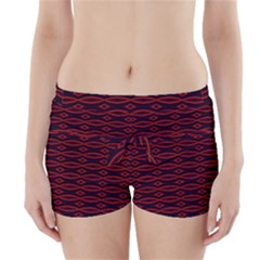 Repeated Tapestry Pattern Abstract Repetition Boyleg Bikini Wrap Bottoms