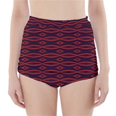 Repeated Tapestry Pattern Abstract Repetition High Waisted Bikini Bottoms