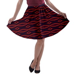 Repeated Tapestry Pattern Abstract Repetition A Line Skater Skirt
