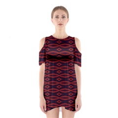 Repeated Tapestry Pattern Abstract Repetition Shoulder Cutout One Piece