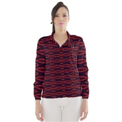 Repeated Tapestry Pattern Abstract Repetition Wind Breaker (women)