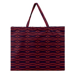 Repeated Tapestry Pattern Abstract Repetition Zipper Large Tote Bag