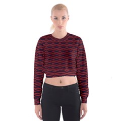 Repeated Tapestry Pattern Abstract Repetition Women s Cropped Sweatshirt