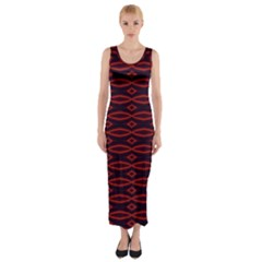 Repeated Tapestry Pattern Abstract Repetition Fitted Maxi Dress