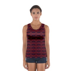 Repeated Tapestry Pattern Abstract Repetition Women s Sport Tank Top