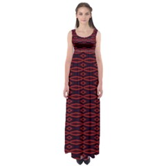 Repeated Tapestry Pattern Abstract Repetition Empire Waist Maxi Dress