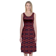 Repeated Tapestry Pattern Abstract Repetition Midi Sleeveless Dress