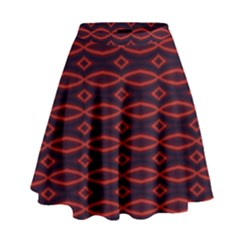 Repeated Tapestry Pattern Abstract Repetition High Waist Skirt