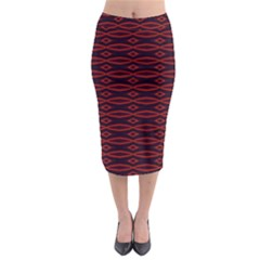 Repeated Tapestry Pattern Abstract Repetition Midi Pencil Skirt