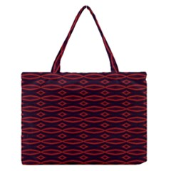 Repeated Tapestry Pattern Abstract Repetition Medium Zipper Tote Bag