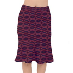 Repeated Tapestry Pattern Abstract Repetition Mermaid Skirt