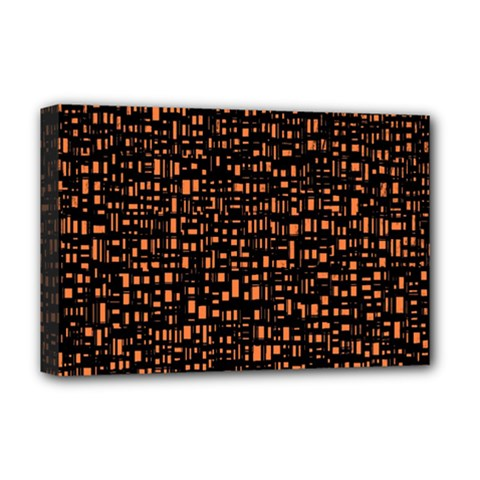 Brown Box Background Pattern Deluxe Canvas 18  X 12