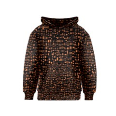 Brown Box Background Pattern Kids  Pullover Hoodie
