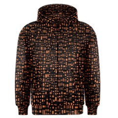 Brown Box Background Pattern Men s Zipper Hoodie