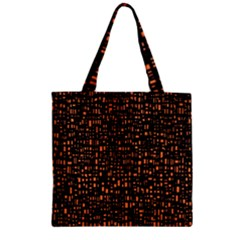 Brown Box Background Pattern Zipper Grocery Tote Bag
