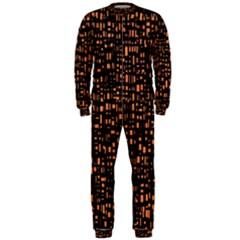 Brown Box Background Pattern OnePiece Jumpsuit (Men)