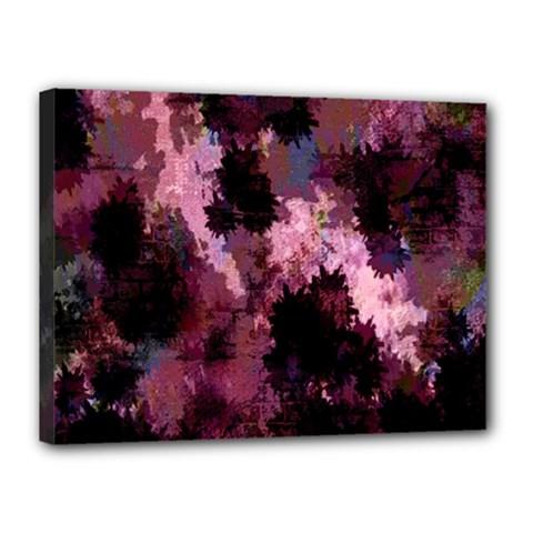 Grunge Purple Abstract Texture Canvas 16  x 12