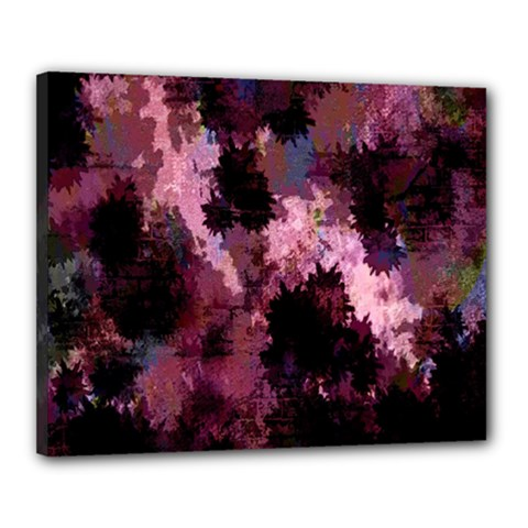 Grunge Purple Abstract Texture Canvas 20  X 16