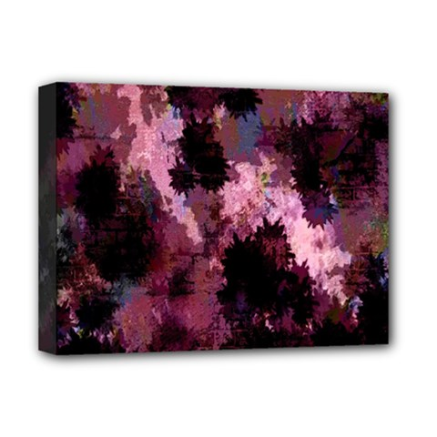 Grunge Purple Abstract Texture Deluxe Canvas 16  x 12