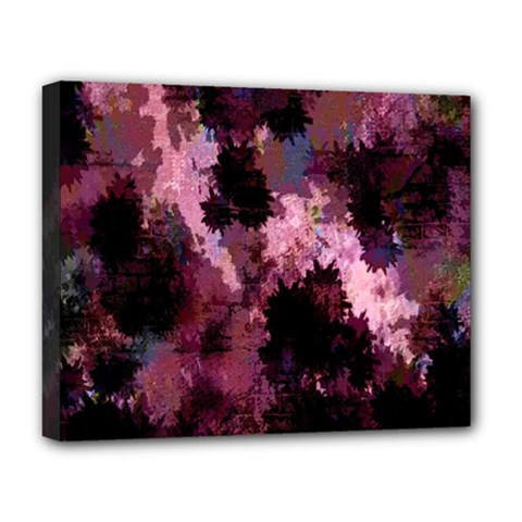 Grunge Purple Abstract Texture Deluxe Canvas 20  x 16