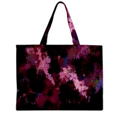 Grunge Purple Abstract Texture Mini Tote Bag