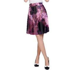 Grunge Purple Abstract Texture A Line Skirt