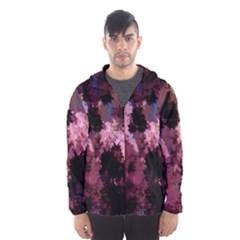 Grunge Purple Abstract Texture Hooded Wind Breaker (Men)