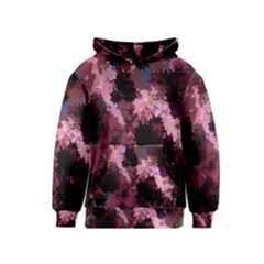 Grunge Purple Abstract Texture Kids  Pullover Hoodie