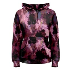 Grunge Purple Abstract Texture Women s Pullover Hoodie