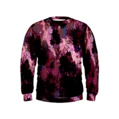 Grunge Purple Abstract Texture Kids  Sweatshirt