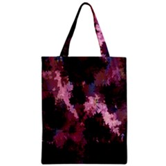 Grunge Purple Abstract Texture Zipper Classic Tote Bag