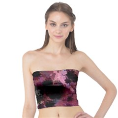 Grunge Purple Abstract Texture Tube Top