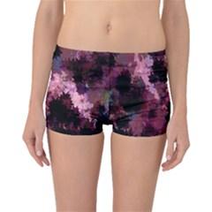 Grunge Purple Abstract Texture Boyleg Bikini Bottoms