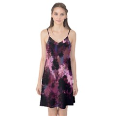 Grunge Purple Abstract Texture Camis Nightgown