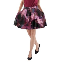 Grunge Purple Abstract Texture A-Line Pocket Skirt