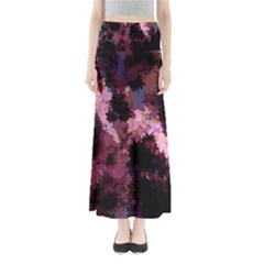 Grunge Purple Abstract Texture Maxi Skirts