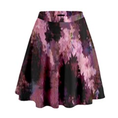 Grunge Purple Abstract Texture High Waist Skirt