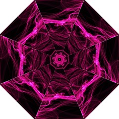 Abstract Pink Smoke On A Black Background Folding Umbrellas