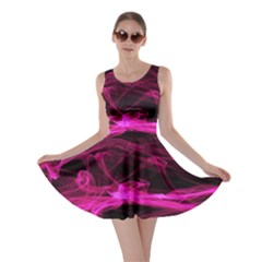 Abstract Pink Smoke On A Black Background Skater Dress