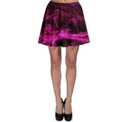 Abstract Pink Smoke On A Black Background Skater Skirt