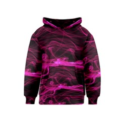 Abstract Pink Smoke On A Black Background Kids  Pullover Hoodie